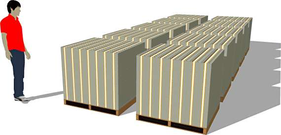 One Billion packs of $100 bills (ten pallets)
