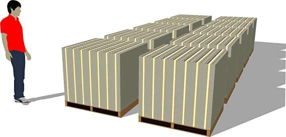 One Billion packs of $100 bills (ten pallets)